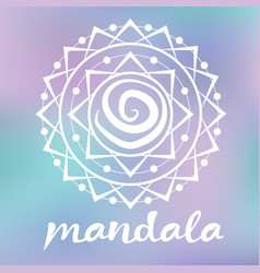 White mandala vector
