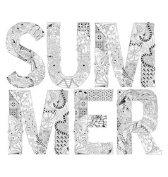 word summer for coloring decorative vector image