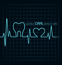 world oral health day design- 20 march vector image