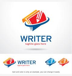 writer logo template vector image