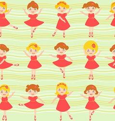Ballerinas pattern vector