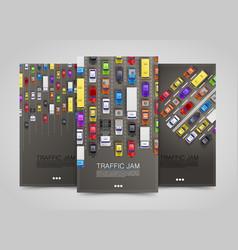 modern transport vertical banners road flyer set vector image vector image
