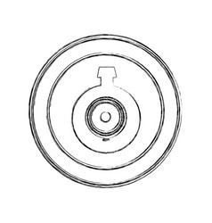 monochrome sketch of video security camera lens in vector image