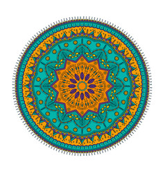 ornament color card with mandala vintage vector image vector image