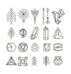 set of minimal geometric shapes vector image vector image