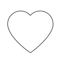 cartoon heart romantic love decoration symbol vector image