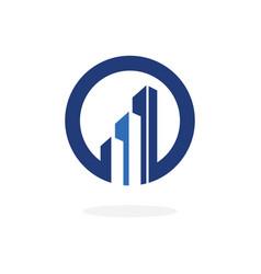 Corporate blue concept real estate logo vector