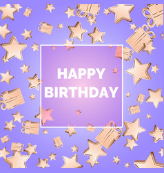 happy birthday modern poster layout and template vector image vector image