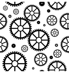 Seamless texture with mechanical wheels vector image