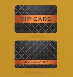 Vip cards with the abstract background vector image