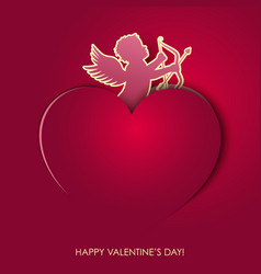 angel valentines day vector image vector image