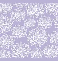lotus pattern background vector image