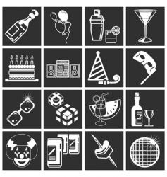 party icon set series vector image vector image