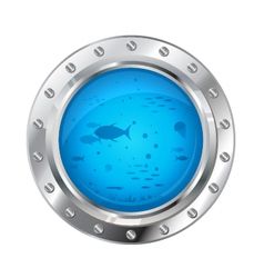 Porthole with Underwater Life vector image