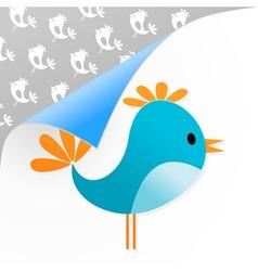 small dark blue bird on a white background a vecto vector image vector image