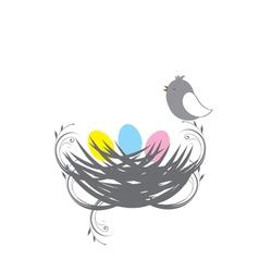 three birds baby vector image vector image