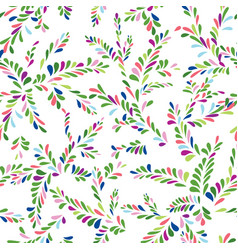 abstract spot floral seamless pattern branch with vector image vector image