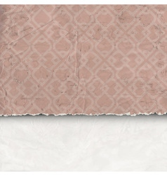 Background of crumpled torn paper vector image