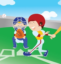 baseballground vector image