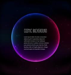 Cosmic background vector image vector image
