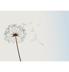 Flower in the wind vector image