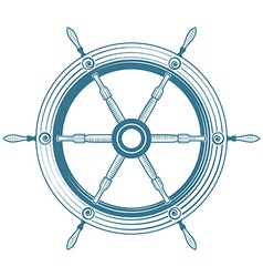 helm boat vector image