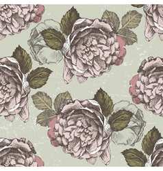 old style roses seamless2 vector image vector image