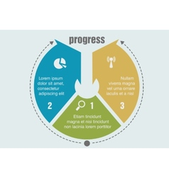 one two three progress steps vector image