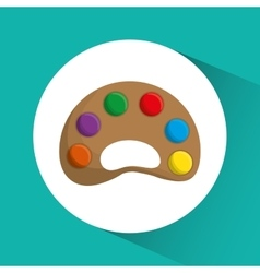 Palette icon Education concept Flat vector image vector image