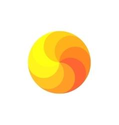 Scope rainbow in shades of orange spiral swirling vector