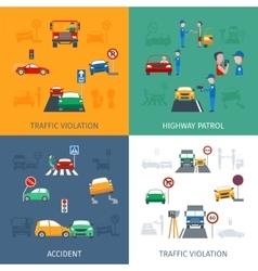 Traffic violation set vector