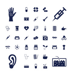 37 treatment icons vector