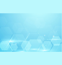 Abstract blue hexagons hi tech technology concept vector