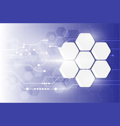 abstract tech system working hexagon texture vector image