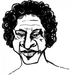 Afro man vector