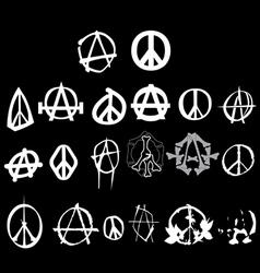 anarchy peace logo vector image