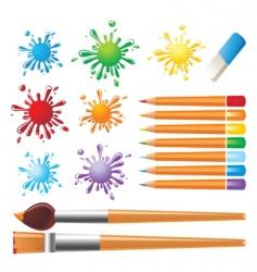 art tools set vector image