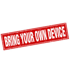 Bring your own device square stamp vector