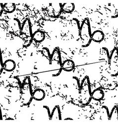 Capricorn pattern grunge monochrome vector image