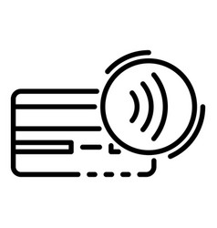 Card nfc icon outline style vector