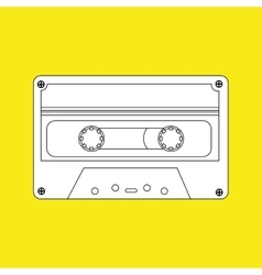 Cassette tape design vector