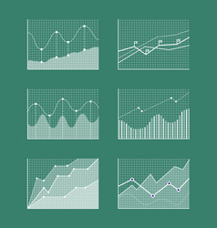 charts collection with frames vector image