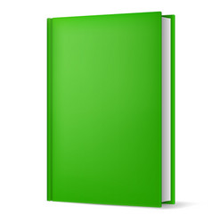 classic green book in front vertical view vector image