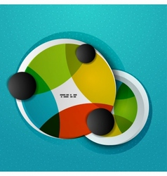 Colorful circles abstract design template vector image