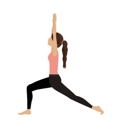 colorful yoga high lunge crescent vector image