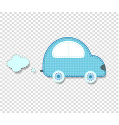 Cute baby boy clip art car for scrapbook or baby vector