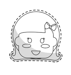 Cute kid icon vector