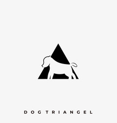 dog triangle template vector image
