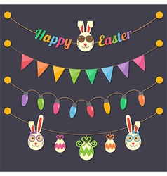 Easter party light bulbs vector