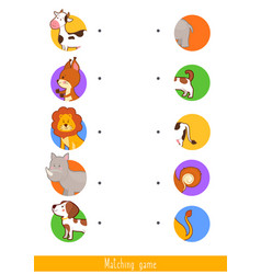 educational children game matching game for kids vector image